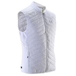 GILET SANS MANCHE RUNNING HOMME RUN WARM+ BLANC NIGHT