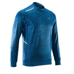 RUN WARM MEN'S RUNNING LONG-SLEEVED T-SHIRT - BLUE