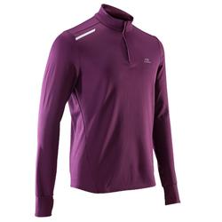 CAMISETA MANGA LARGA RUNNING Kalenji run warm HOMBRE Violeta