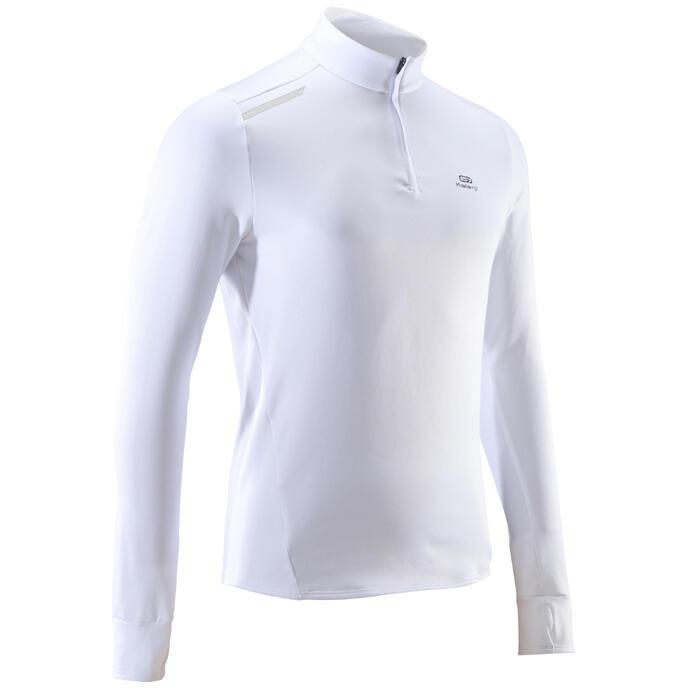 Hardloopshirt met lange mouwen voor heren Run Warm wit - 1490538