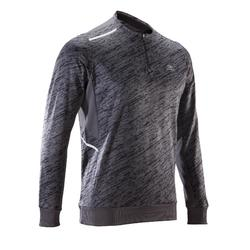 RUN WARM+ MEN'S RUNNING LONG-SLEEVED T-SHIRT - GREY