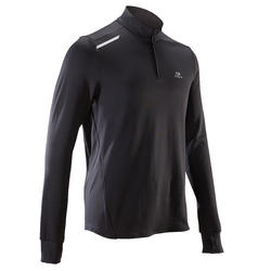 RUN WARM MEN'S LONG-SLEEVED SHIRT - BLACK