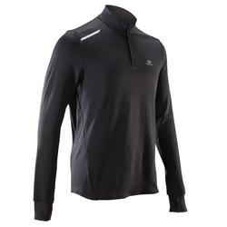 男款保暖長袖T恤-黑色