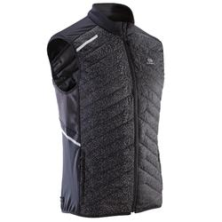 RUN WARM + MEN'S RUNNING SLEEVELESS JACKET - NIGHT BLACK