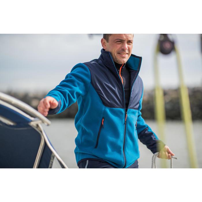 Warme herenfleece voor zeilen Sailing 500 blauw blauw