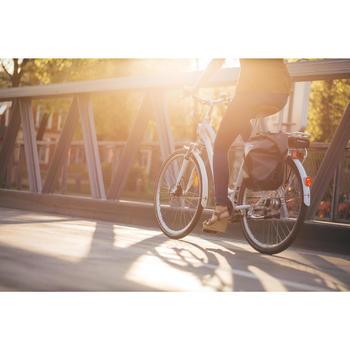 Elektrische fiets / E-bike Elops 920 laag frame stadsfiets wit