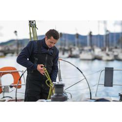Warme herenfleece voor zeilen Sailing 500 marineblauw