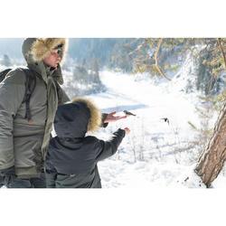 男款極致保暖雪地健行外套SH500-卡其色。