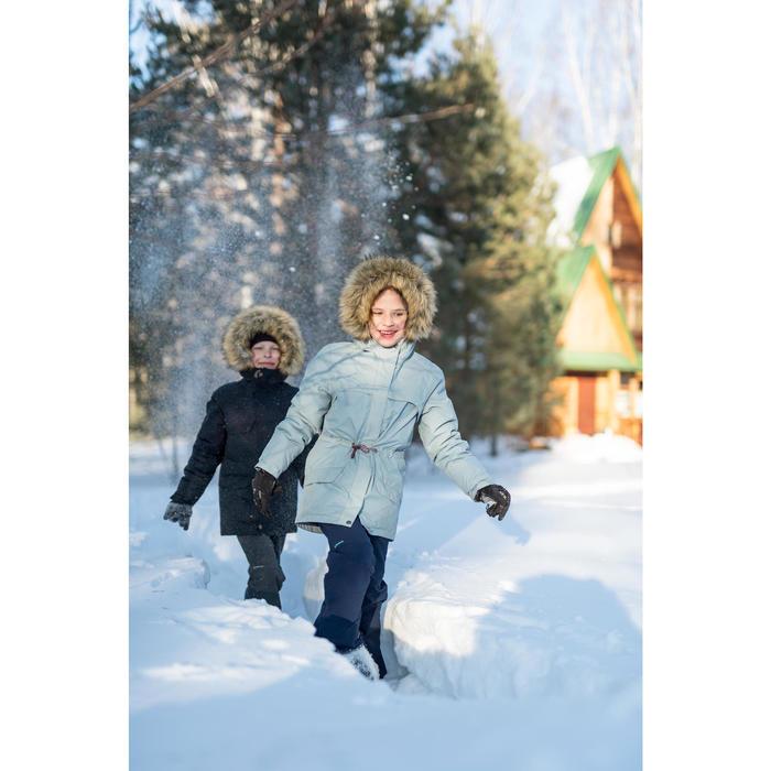 Winterstiefel Winterwandern SH520 Warm wasserdicht Kinder schwarz