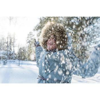 Kinder wandellaarzen voor de sneeuw SH520 X-Warm bruin