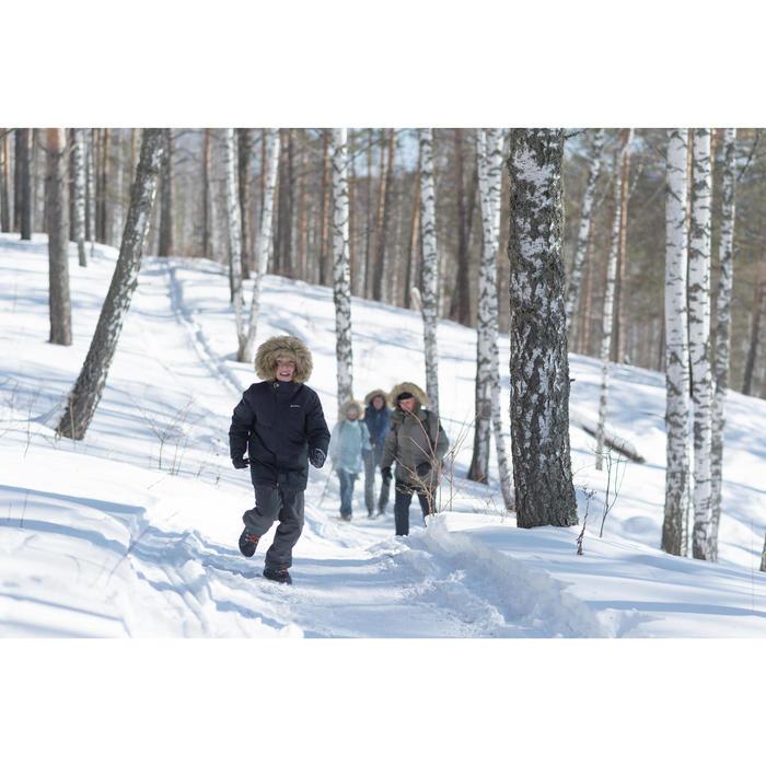 Botas de senderismo nieve júnior SH500 warm tira autoadherente mid azul
