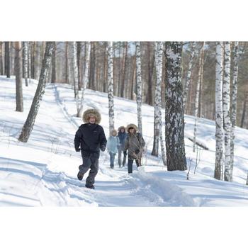 Chaussettes de randonnée neige junior SH100 warm mid gris bleues.
