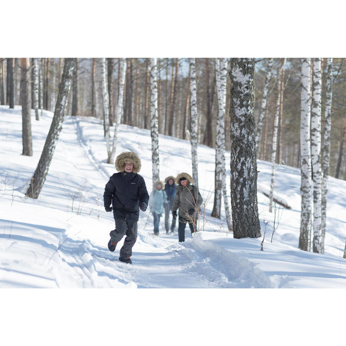Wandersocken Winterwandern SH100 Warm halbhoch Kinder/Erwachsene grau/blau