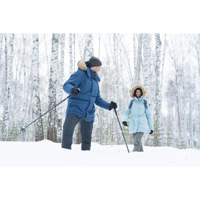 Warme wandelbroek heren SH500 X-warm donkergrijs