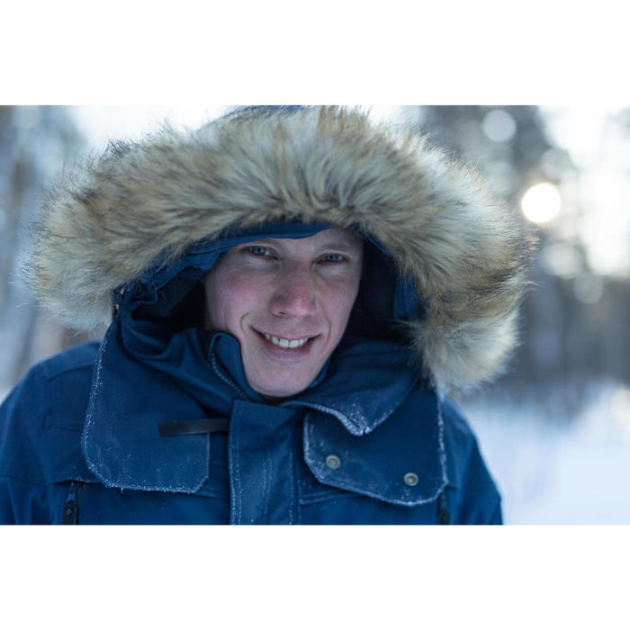 Chaqueta de senderismo nieve hombre SH500 ultra-warm azul.