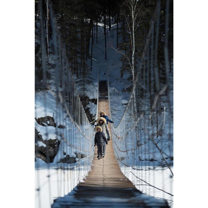 Wanderhose Winterwandern SH100 Warm Kinder 128–164cm grau