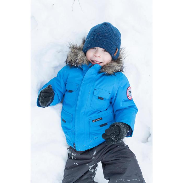 Chaqueta de senderismo nieve júnior SH500 x-warm azul