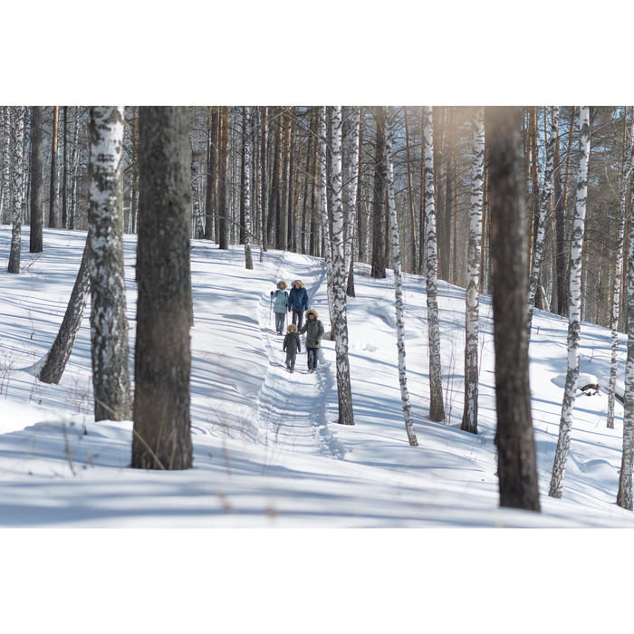Wandelsokken volwassenen sneeuw SH100 warm mid blauw.