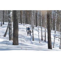 Wandelsokken voor de sneeuw volwassenen SH100 warm mid grijs