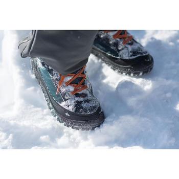 兒童款魔鬼氈健行保暖防水鞋SH500 WARM