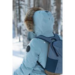 Winterjacke Parka Winterwandern SH500 Ultra-warm Damen khaki