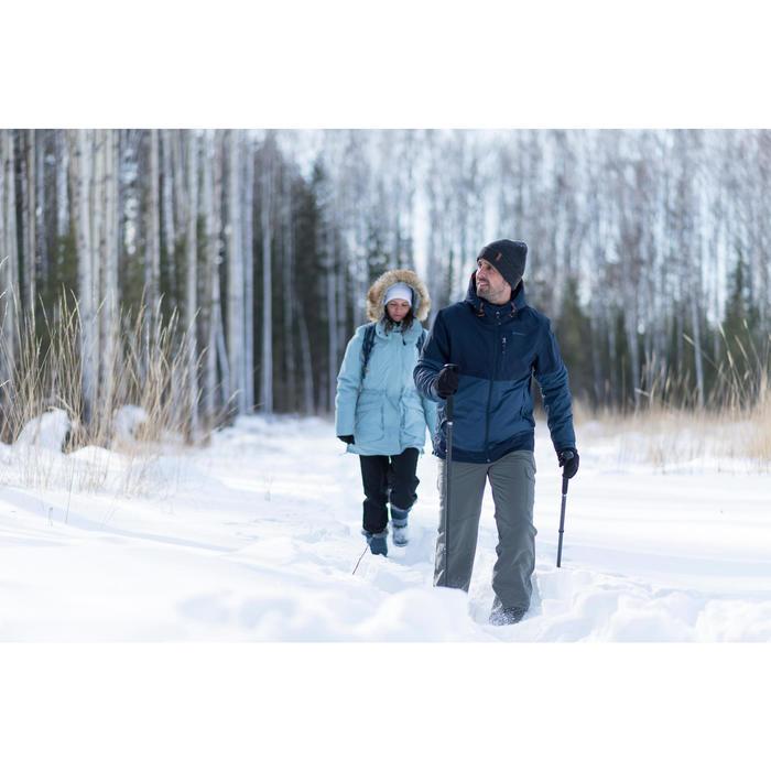 Pantalón de senderismo nieve hombre SH100 ultra-warm azul.