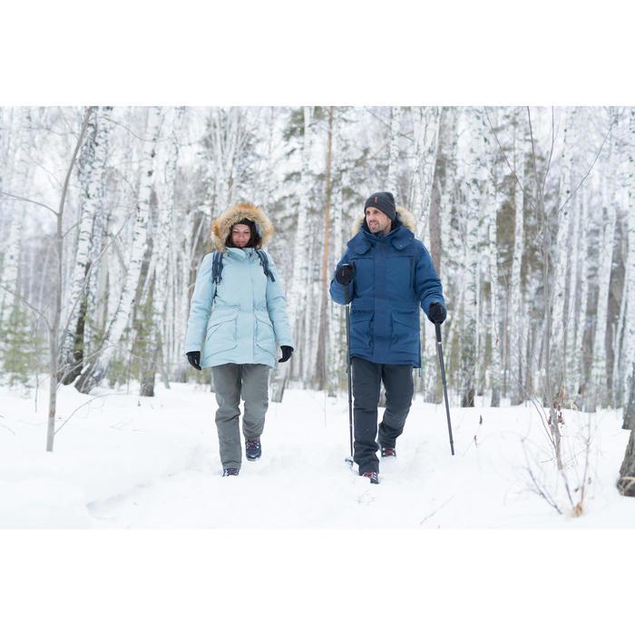 Chaussures de randonnée neige homme SH500 x-warm high bleue.