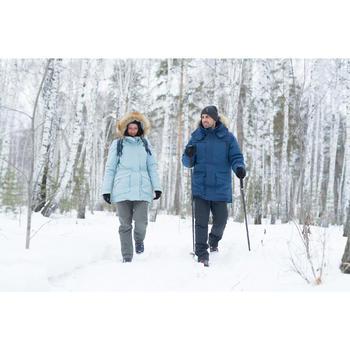 Wanderjacke Winterwandern SH500 Ultra-warm Herren blau