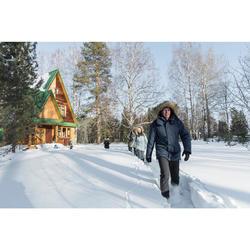 Parka chaude imperméable de randonnée neige homme SH500 ultra-warm bleue.