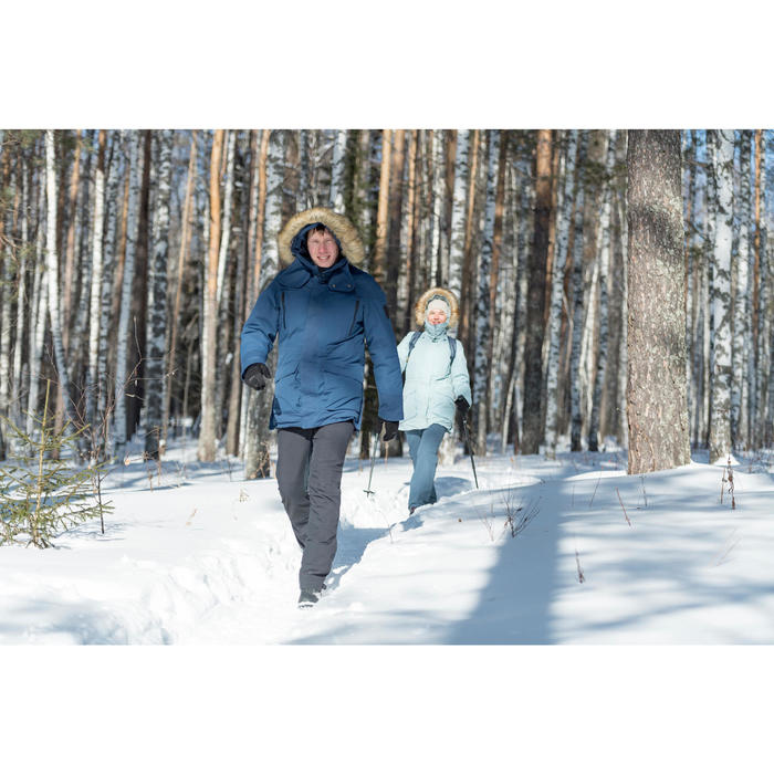 Herenbroek voor hikes in de sneeuw SH500 X-Warm donkergrijs