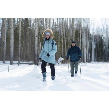 Parka chaude imperméable de randonnée neige femme SH500 ultra-warm bleu-marine