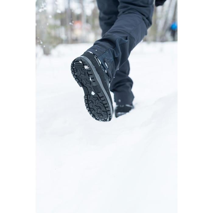 Heren wandelschoenen voor de sneeuw SH500 X-warm high blauw