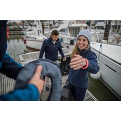 Polaire chaude de voile femme SAILING 500 Navy