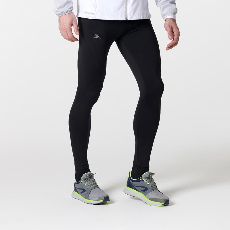 RUN WARM MEN'S RUNNING TIGHTS - BLACK