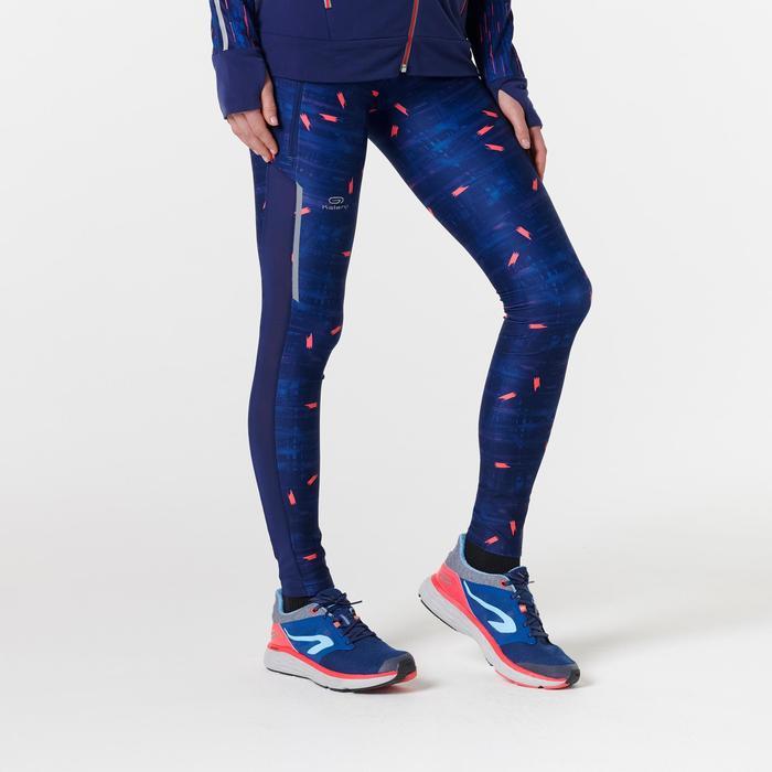 Laufhose lang Tights Run Dry+ Damen dunkelblau
