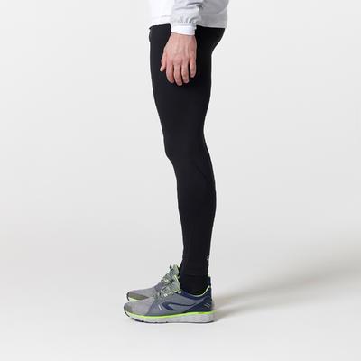 بنطلون رياضي RUN WARM للرجال لرياضة الجري – لون أسود