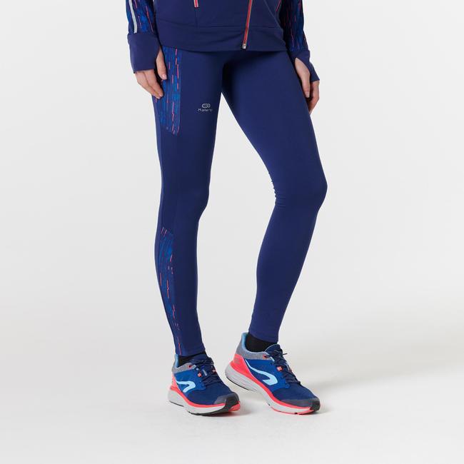 RUN WARM+ WOMEN'S WARM JOGGING TIGHTS BLUE COSMOS
