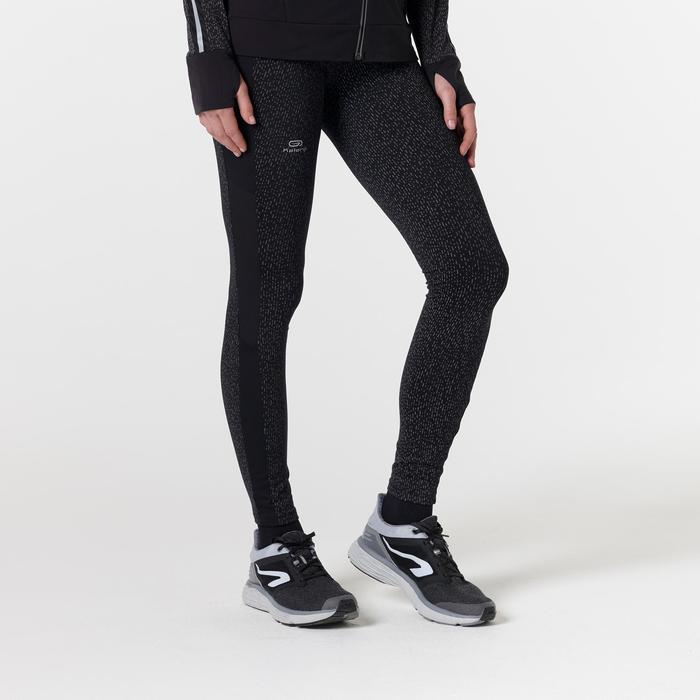 Laufhose lang Tights Run Warm+ Damen schwarz