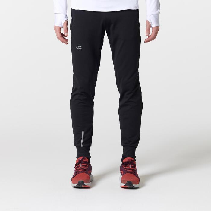 Pantalon Largo Deportivo Running Kalenji Run Warm+ Hombre Negro
