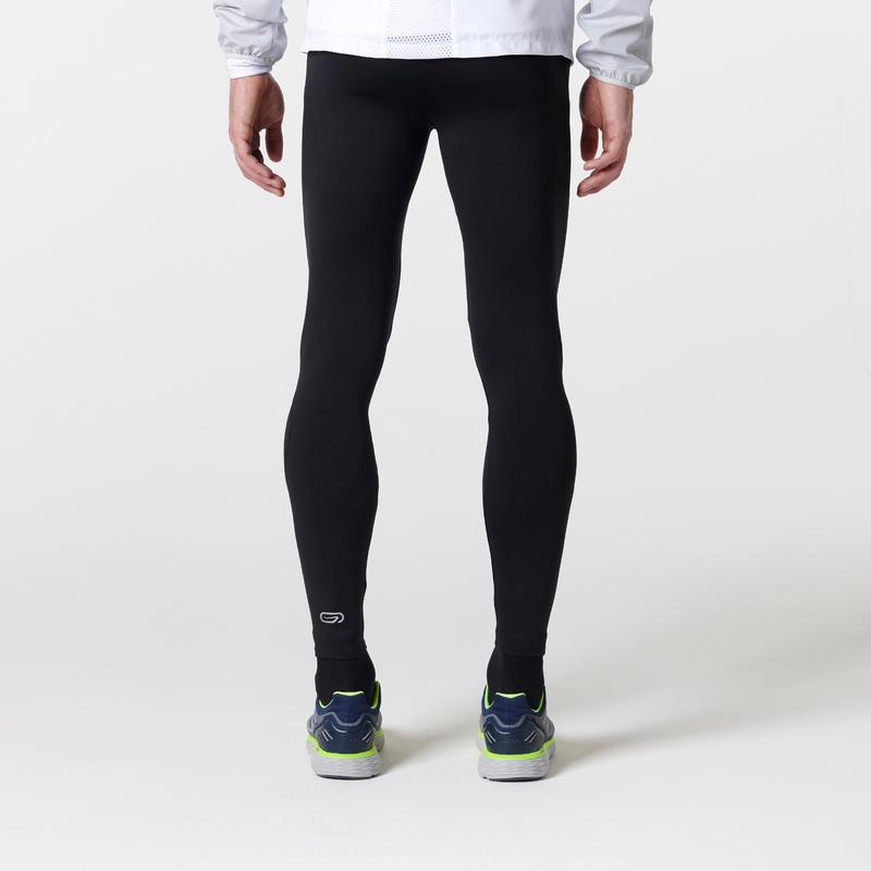 Quần bó chạy bộ Run Warm cho nam - Đen