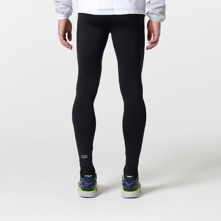 RUN WARM MEN'S RUNNING TIGHTS - BLACK
