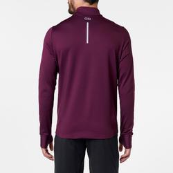 Hardloopshirt met lange mouwen voor heren Run Warm pruim