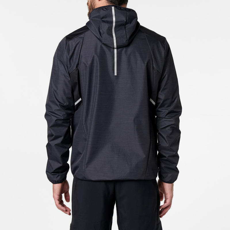 Kalenji Run Rain Men's Running Wind and Rain Jacket - black