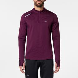 TEE SHIRT MANCHES LONGUES RUNNING HOMME RUN WARM PRUNE