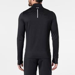 男款保暖跑步長袖T恤RUN WARM - 黑色