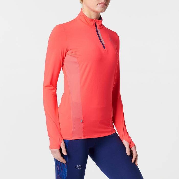 MAILLOT MANCHES LONGUES JOGGING FEMME RUN DRY+ ZIP - 1491110