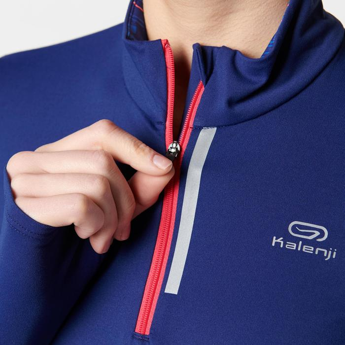 RUN DRY+ ZIP WOMEN'S LONG-SLEEVED JOGGING JERSEY BLUE