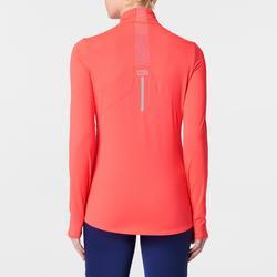 Laufshirt langarm Run Dry+ Zip Damen koralle