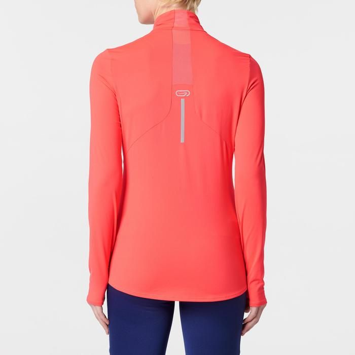 Run Dry + Zip Women's Running Long-Sleeved Shirt - Pink - 1491121