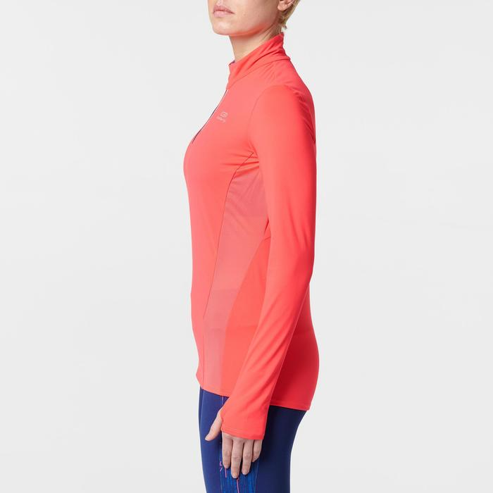 Run Dry + Zip Women's Running Long-Sleeved Shirt - Pink - 1491130